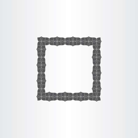 photo frame corner: gray vector decorative square frame design Illustration