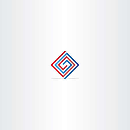 square logo: technology spiral square logo abstract icon design