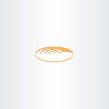 white bread: white bread logo vector icon symbol Illustration