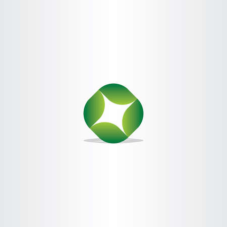 modern innovative: green leaf circle eco vector symbol design