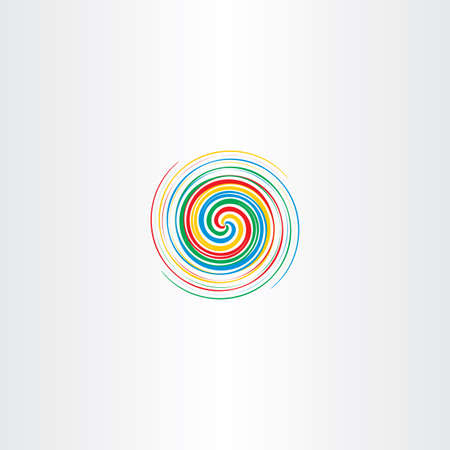 disorient: abstract colorful spiral tornado vector icon background element
