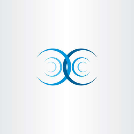 interference: water wave interference collision vector icon symbol Illustration