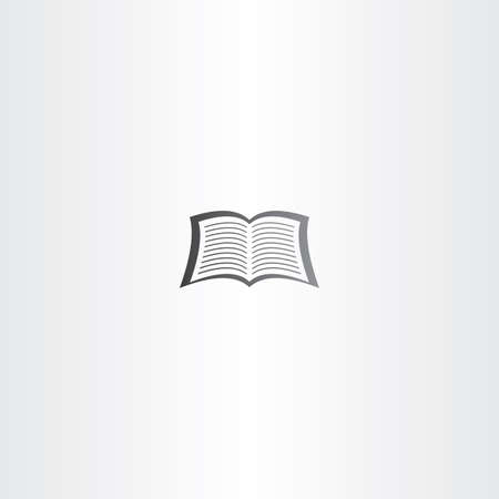 ereader: open notebook or newspaper vector book icon symbol