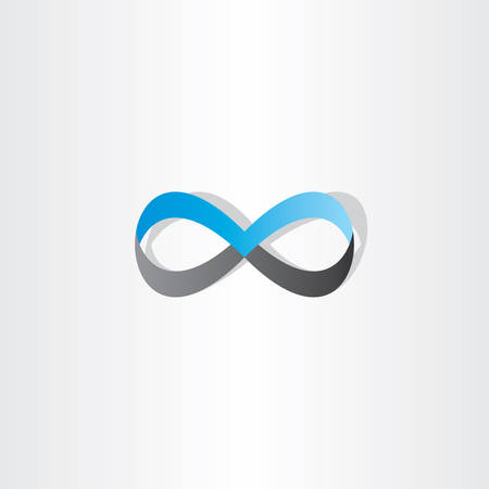 infinity sign: blue black infinity sign vector element design
