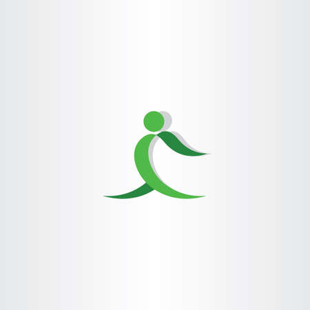 green man: green man exercise icon lifestyle Illustration