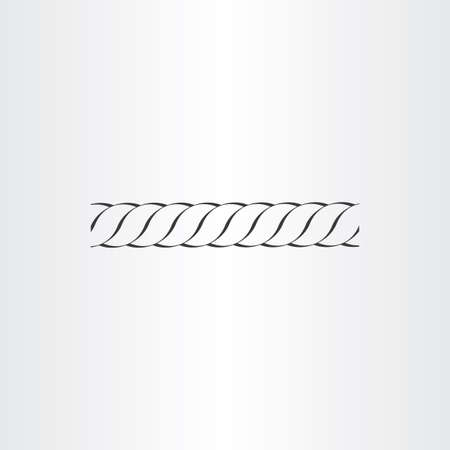in the loop: rope vector icon design loop