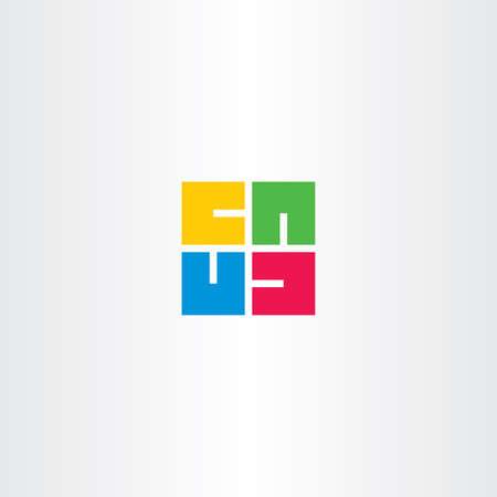 square shape: letter u square rotation vector shape