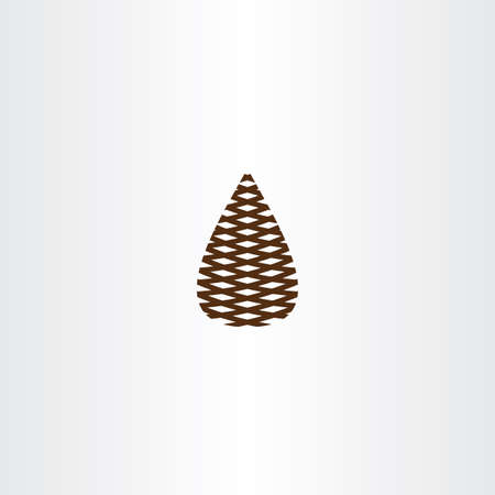 pinecone: pinecone vector icon symbol design
