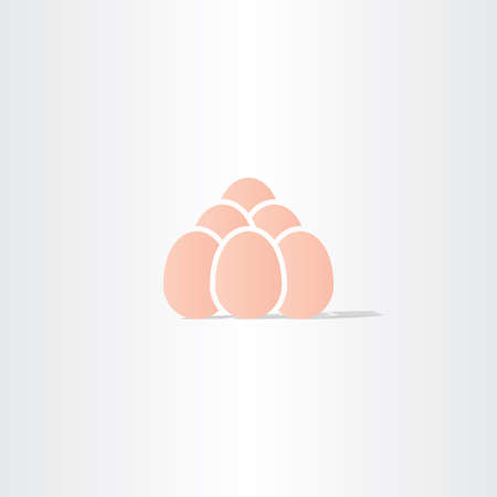 bussines: eggs vector icon symbol bussines