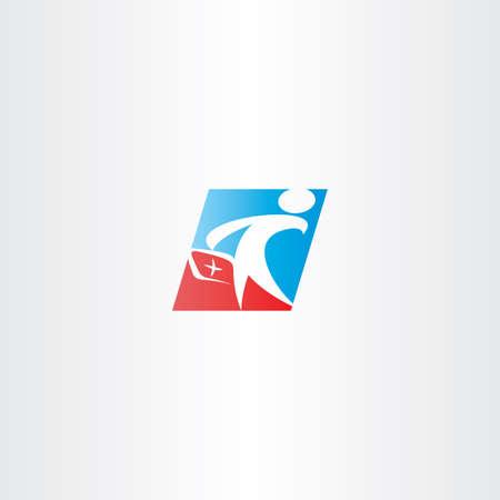 medics: doctor medic man vector icon symbol