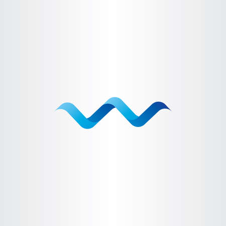 water wave: water wave spiral letter w vector logo icon label