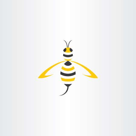wasp: wasp stylised vector icon logo design