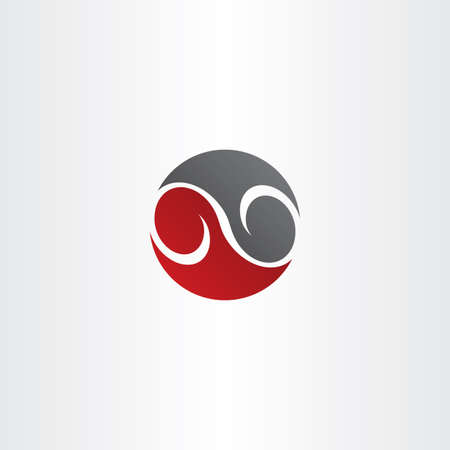 infinity symbol: red black circle infinity symbol vector line