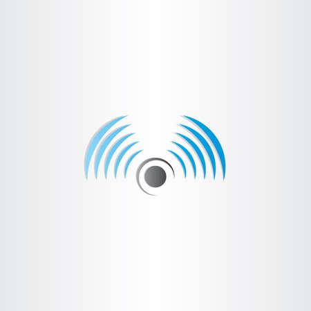 radio waves: radio waves vector logo icon antenna