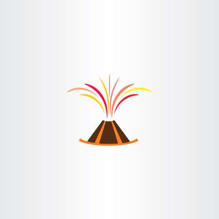 lava: volcano lava explosion vector icon symbol logo