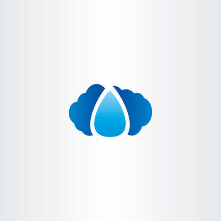 kropla deszczu: cloud and raindrop vector logo icon water Ilustracja