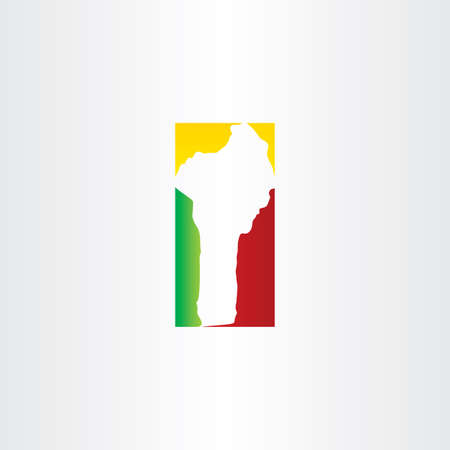 benin: benin map logo icon vector design element Illustration