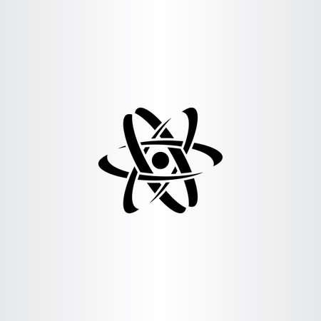 nucleus: black nucleus logo symbol vector icon design Illustration