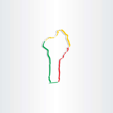 benin: benin map icon vector design