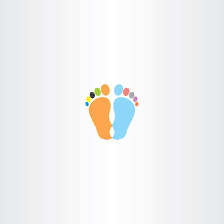 anatomy of the finger: footprint icon vector design