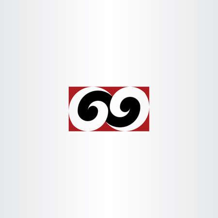position d amour: num�ro soixante-neuf 69 logo �l�ment vecteur ic�ne conception