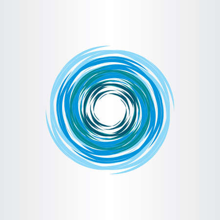 water vortex: water vortex blue icon abstract background vector Illustration