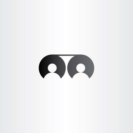 cinema people: movie reel cinema people icon vector