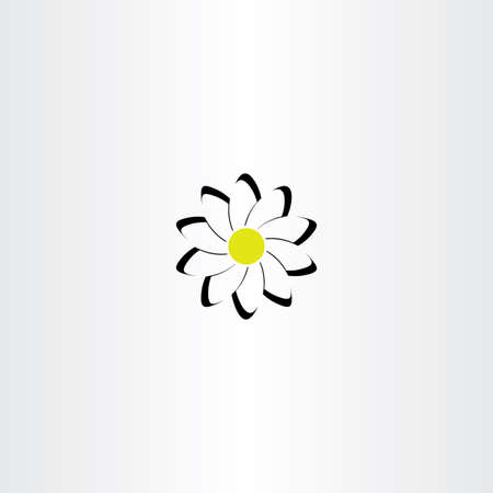 chamomile flower: chamomile flower vector icon symbol