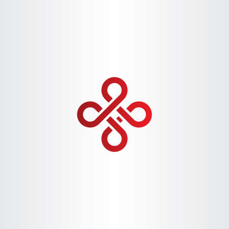 celt: abstract knot red icon logo vector symbol Illustration