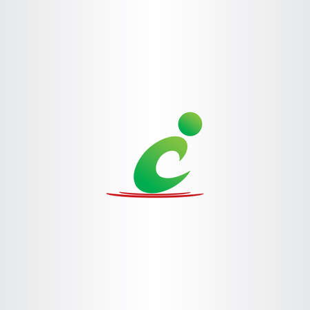 green man: green man letter c icon c logo vector symbol design