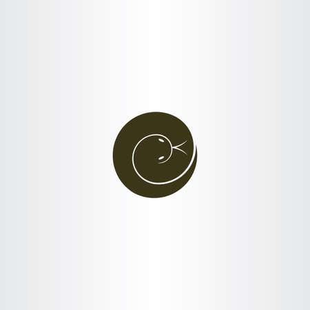 python skin: spiral snake icon vector logo symbol Illustration