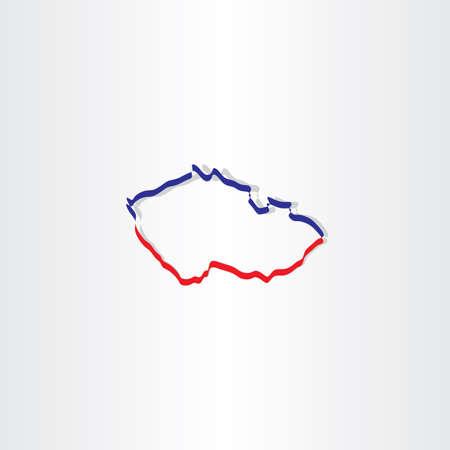 the czech republic: czech republic map vector icon sign Illustration