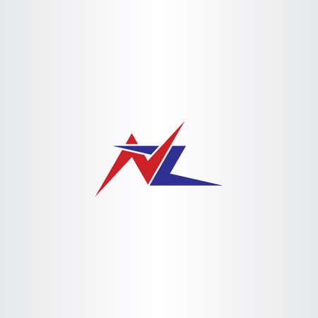 nz: letter n and z  nz   vector Illustration