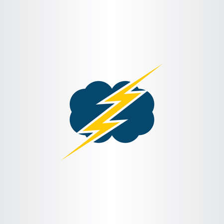 thunder cloud: storm thunder cloud icon vector symbol design Illustration