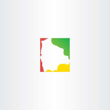mapa de bolivia: Bolivia dise�o icono de mapa vectorial