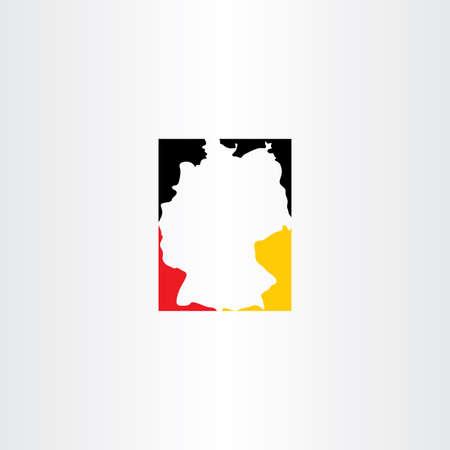 deutschland karte: Deutschland Karte Vektor-Icon-Design