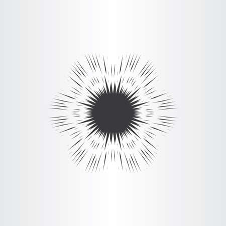 detonation: supernova star explosion icon vector design