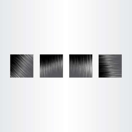 brushed aluminum: metal texture vector background set collection design
