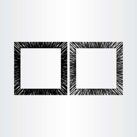 boarder: abstract empty frame vector black background design Illustration