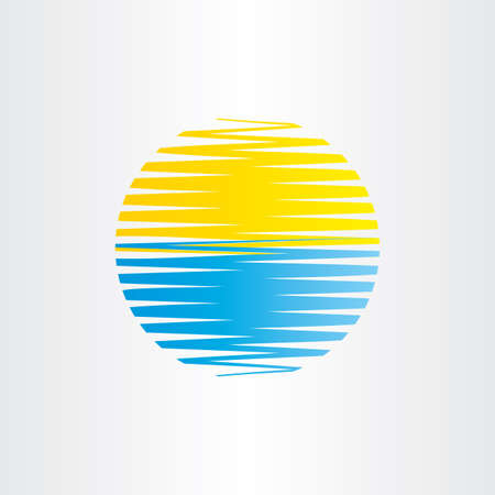 sea water: sun and sea water abstract background icon Illustration