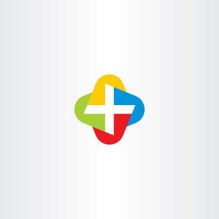 medical symbol: colorful cross medical symbol vector