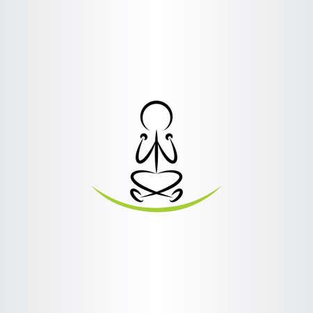 man meditating: man meditating yoga vector icon