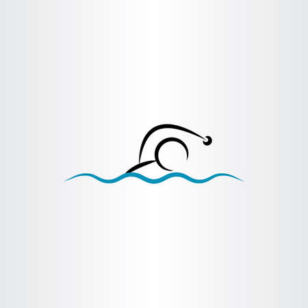 competitions: man swimming vector illustration