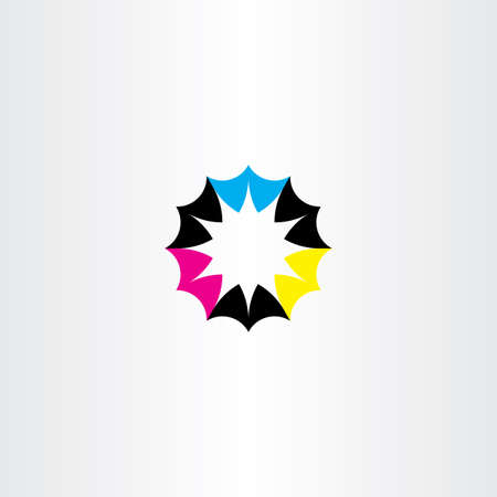 business sign: business icon abstract colurful cmyk sign shape