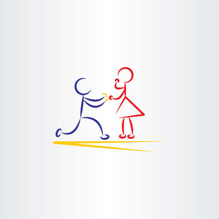 fiance: man proposing woman vector icon