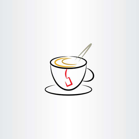 thirsty: cup of tea clipart icon vector design Illustration