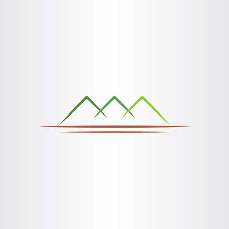 green mountain: simple stylized green mountain vector symbol