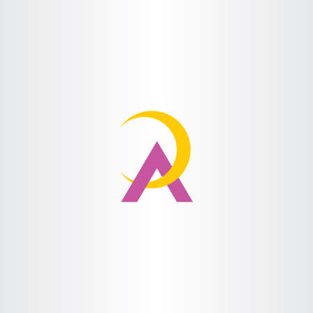yellow purple a letter symbol