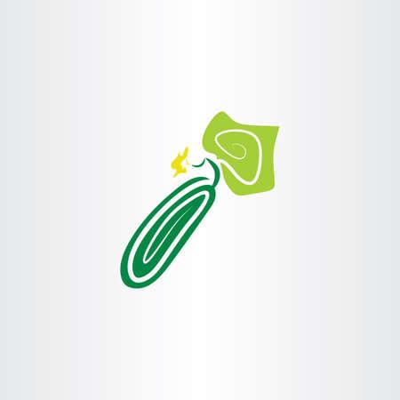 cucumber: cucumber vector icon clipart