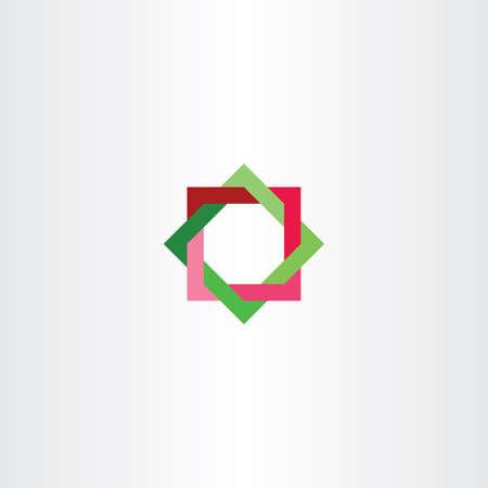 forme geometrique: rouge vert carré abstrait étoile technologie